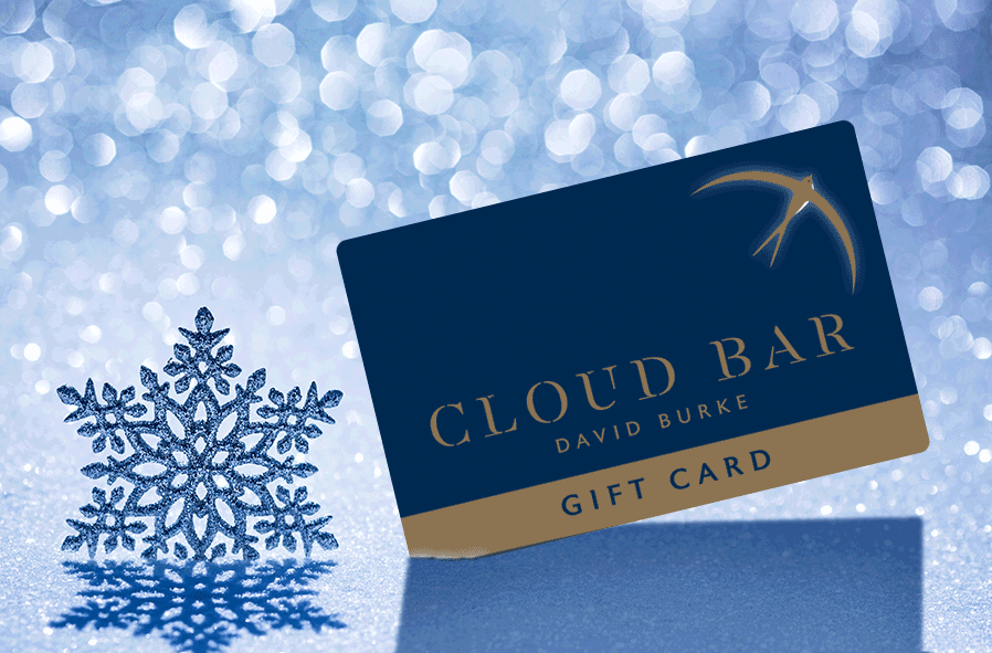 Cloud Bar Gift Card with Snowflake
